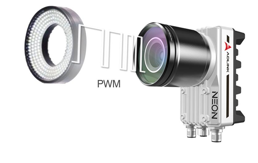 cámara inteligente QNV-Adlink-Neon-1040 control de iluminacion PWM incorporado
